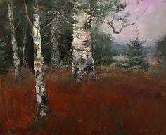 "Robert Andriulli (b.1948) ~ ""The Pine"" ~ Oil on Canvas 16 x 20"