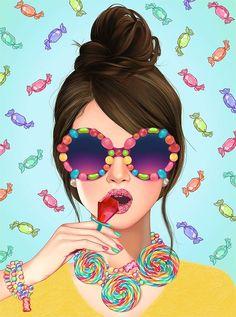 37 Ideas Birthday Card For Girls Vintage Cartoon Art, Girl Cartoon, Arte Fashion, Pop Art Girl, Pop Art Illustration, Girly Drawings, Anime Art Girl, Female Art, Cute Art