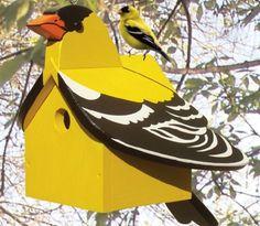 19-W3217+-+Goldfinch+Hideaway+Birdhouse+Woodworking+Plan