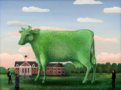 The Big Green Topiary! Cow
