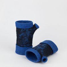 Felted fingerless gloves, Felt merino gloves, Wool gloves, Winter, autumn accessory,  Felt arm warmers, Piece unique by BuriFelt on Etsy