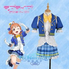 Lovelive Aqours Takami Chika My Dance Tonight Lovely Uniform Cosplay Costume Stage Performance Kimono Free Shipping Anime Home