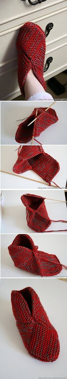 This tutorial resembles one of the most precise instructions on how to crochet one of the most beautiful and comfortable slippers that you can get online. Crochet Socks, Knitting Socks, Crochet Stitches, Knit Crochet, Knitting Patterns Free, Knit Patterns, Free Knitting, Knitted Booties, Knitted Slippers