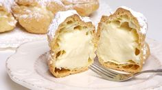 Homemade Cream Puffs and Eclairs (Med Diet Episode - Easy Pastry Recipes, Gourmet Recipes, Cake Recipes, Cooking Recipes, Medovik Cake Recipe, Cream Puff Recipe, Med Diet, Homemade Desserts, Toasted Coconut