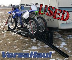 Single Motorcycle Carrier with Ramp - USED