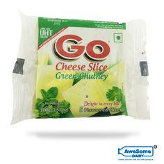Go Cheese Slice - Green Chutney Cheese Online @ Best Price Mumbai Go Cheese, Cheese Online, Green Chutney, Cows, Snack Recipes, Dairy, Milk, Content, Awesome
