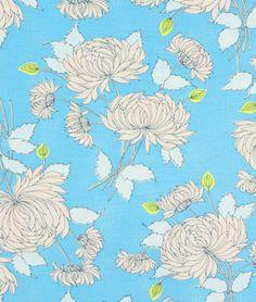 Shop Amy Butler Chrysanthemum Blue Fabric at onlinefabricstore.net for $9.35/ Yard. Best Price & Service.