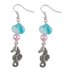 Beach Earrings Idea | Show your lobes a little love this summer with these adorable DIY beach-themed earrings. #jewelrymaking