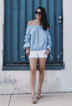 Off the shoulder tops were super hot last spring and summer and I have no doubt they'll be back in style this year.