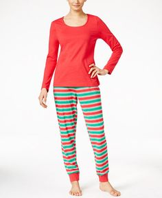 8c0f06a0a5 Family Pajamas Women s Holiday Stripe Knit Pajama Set