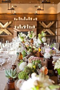 succulent table setting to adore #centerpieces #eventdecor