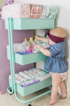 Organize Baby Essentials with a Diaper Cart