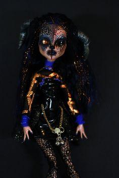 """""""Mesunia Kapoor"""" Monster High OOAK Art Doll Repaint by Alyssia of Refabrications"""