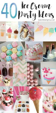 Planning an ice cream party? You need to see this list of over 40 awesome ice cream party ideas! From serving hacks to DIY decorations to creative treats and more, these are the best ice cream… Ice Cream Theme, Diy Ice Cream, Ice Cream Parlor, Ice Cream Party Decor, Cream Cream, Party Hacks, Ideas Party, Creative Party Ideas, Kids Bday Party Ideas