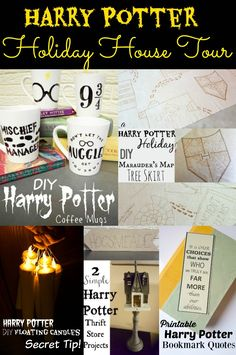 harry potter holiday house tour holy cow she has everything laid out so simply with