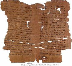 The Schøyen Codex, a papyrus manuscript. It contains the Gospel of Matthew and dated to the early 4th century AD. It is the earliest Matthew in any Coptic dialect.