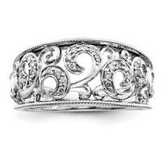 Sterling Silver  $300  1/6 Carat t.w. Diamonds  Sizes 6-7-8  QR3389