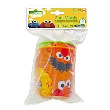 Sesame St Fun MealZ 3D Cup 2pk - Big Bird/ Elmo/ Ernie