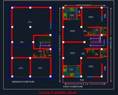 Download Free Autocad Drawing Of House Space Planning 25
