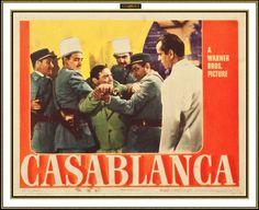Lobby Card from the film Casablanca Casablanca Movie, Casablanca 1942, Humphrey Bogart, Warner Brothers, Warner Bros, Hollywood Stars, Old Hollywood, Play It Again Sam, Peter Lorre
