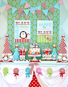 winter candyland first birthday- December birthday party idea