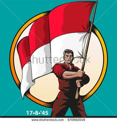 Vector illustration, indonesian independence day symbol or mascot
