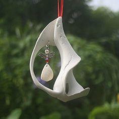 Angel Ornament- with Beach Angels  poem- Angel in a shell- Coastal Decor- Beach Decor