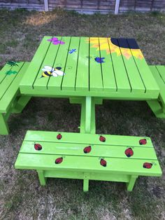painted picnic table diy backyard stuff pinterest painted