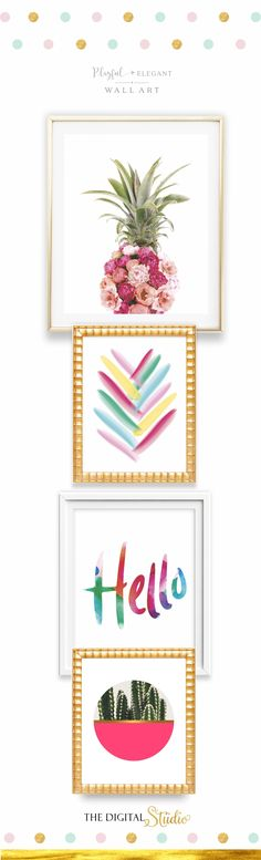 Add a Pop of Color to any room in your home with these Affordable Printable Art.