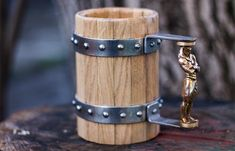 Wooden Beer Mug With A Custom Handle WOODEN BEER MUGS | BY GREEN SHIELD WORKSHOP