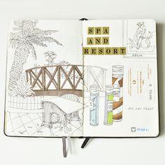 Cyprus travelbook by Anna Rastorgueva, via Behance