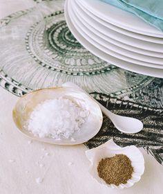 Use shells for salt/spice holder