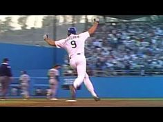 Hatcher homers, sprints around bases First World Series, Mlb Teams, Los Angeles Dodgers, Running, Sports, Youtube, Hs Sports, Dodgers Baseball, Keep Running