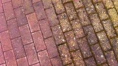 Vorher/Nacher Vergleich Pflastersteine