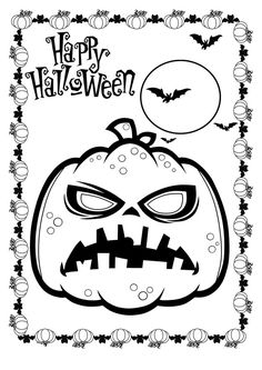 Halloween coloring pages LineArt HalloweMonsters Pinterest