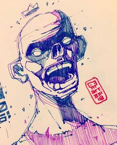 Davinci Art, Cyberpunk Character, Dope Art, Art Drawings Sketches, Character Design, Skull, Creatures, Embroidery, Fictional Characters