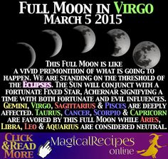 Planet Vibes Full Moon in Virgo March 05, 2015 Moirae, the Goddesses of Fate exhibit their masterpiece
