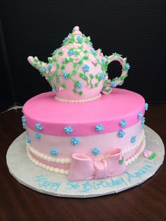 Teapot cake, Let's have a tea party theme, birthday