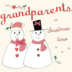 handmade to grandparents christmas card by laura sherratt designs | notonthehighstreet.com
