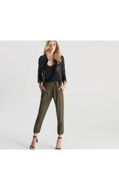 Spodnie khaki, Spodnie, zielony, TALLINDER
