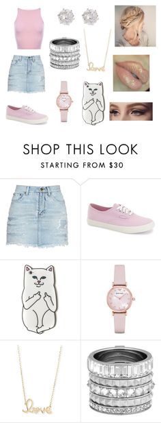 """""""Untitled #274"""" by ignoredpest on Polyvore featuring Sephora Collection, Yves Saint Laurent, Vans, Emporio Armani, Sydney Evan, Henri Bendel, River Island and girly"""