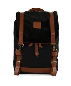 Jimmy Backpack by Smith. Backpack with black and brown color, made from polyester, lobster clasp fastening, adjustable  strap. This backpack can carry your thing everywhere, perfect backpack for school or for a weekend gate away. http://www.zocko.com/z/JIqIy