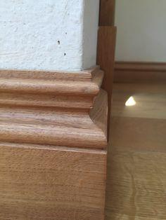 Derbyshire oak skirting - European  oak #wood #oak #interior #skirting #cottage #home #peakoak #interiordesign Architrave, Derbyshire, Solid Oak, Stairs, Cottage, Wood, Interior, Home Decor, Stairway