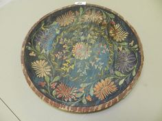 19th Century,Pa. Dutch wooden dish/Charger, Milk Paint? Beautiful!