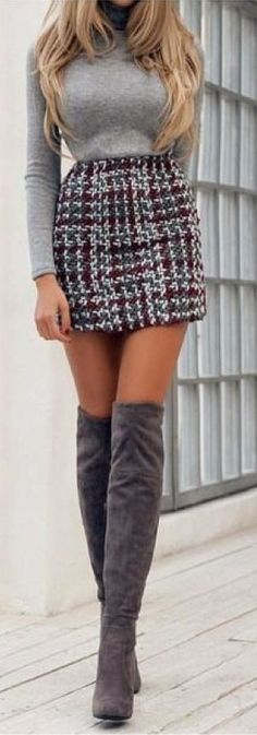 See a - Mode für Frauen - Mini Skirt Outfit Mode Outfits, Trendy Outfits, Fashion Outfits, Womens Fashion, Fashion Trends, Trendy Clothing, Fashion Styles, Clothing Stores, Clothing Ideas