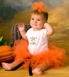 Los bebés primer Halloween Set Tutu