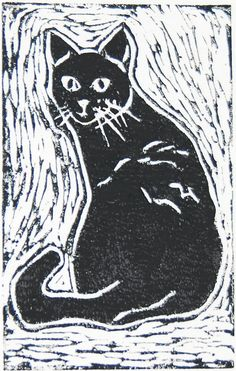 Black Cat by StaceyLoweDesign on Etsy