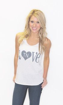 heart tennessee alternative apparel tank - ivory $28 on www.shopriffraff.com/state-love Exclusive Riffraff Copyrighted Tees. Flaunt your state love in our state love tees!