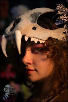 Custom Vegan Animal skull headdress.