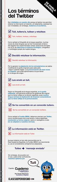 Tuit,Twit o Tweet? El lenguaje de Twitter. ¿Qué opinas? #infografia #infographic#socialmedia